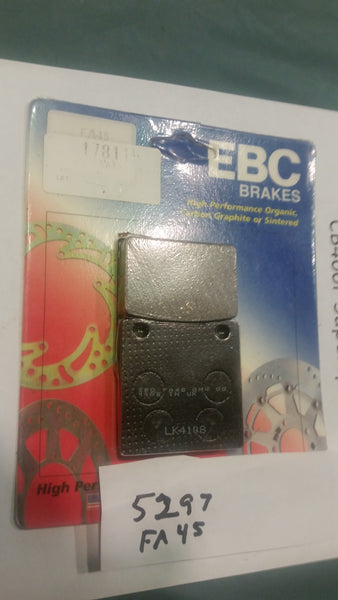 Honda CB400 Hawk, CB650, CB750  CM400 A CM400T New EBC Brake Pads model FA45 SKU 5297