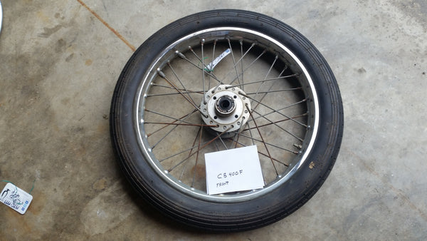 5303 Honda CB400F front wheel with tire