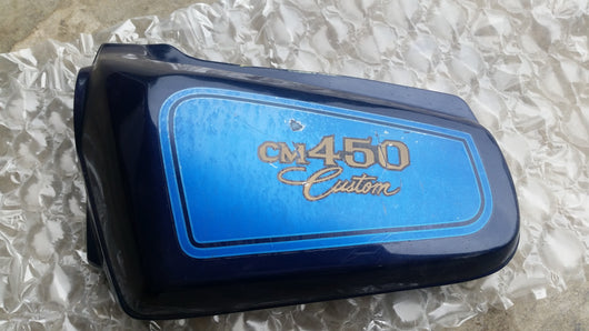 Honda CM450 Custom left blue side cover 1982 Honda number 5455 83740-447A