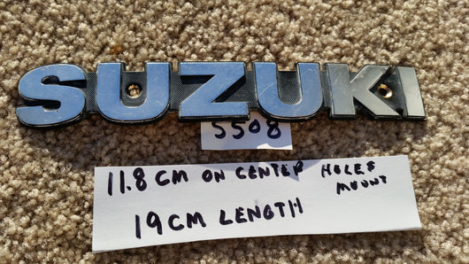 Suzuki Gas Tank Badge 5508
