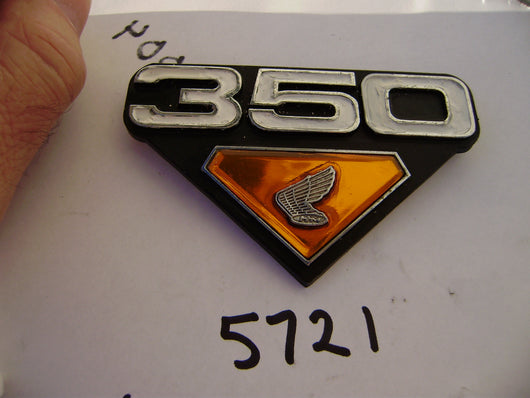 Honda CB350 sidecover badge sku 5721