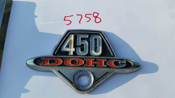 Honda CB450 Honda CL450 Sidecover Badge sku 5758
