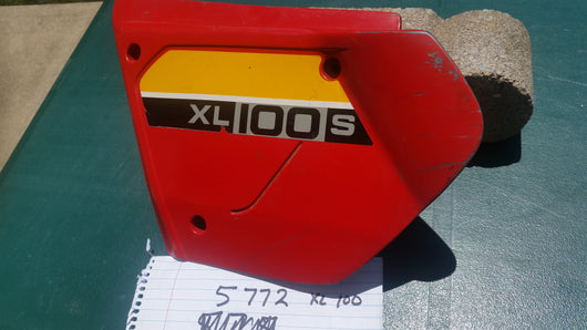 Honda XL100S sidecover left red sku 5772