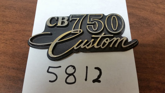 Honda CB750 Custom Sidecover Badge sku 5812