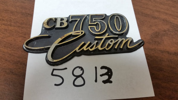 Honda CB750 Custom Sidecover Badge sku 5813