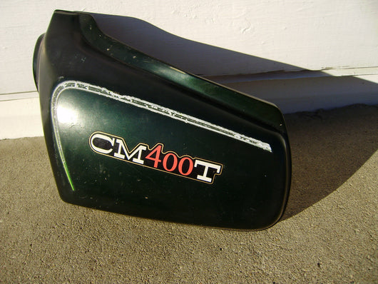 Honda CM400T sidecover left Candy Holly Green  83740-447A  my sku 5833