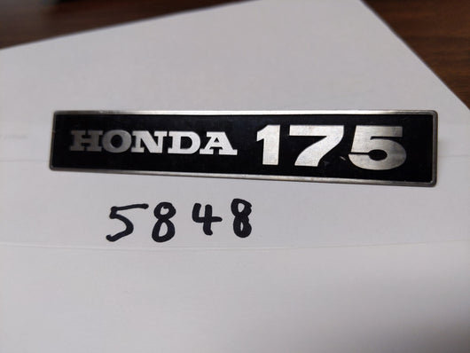 Honda CA175 Touring Sidecover Badge 175  87128-237-670 my sku 5848
