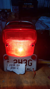 Suzuki TS250C Luggage Rack Tail Light seat railsku 5935