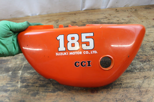 Suzuki TS185 sidecover left 1975 orange sku 5960
