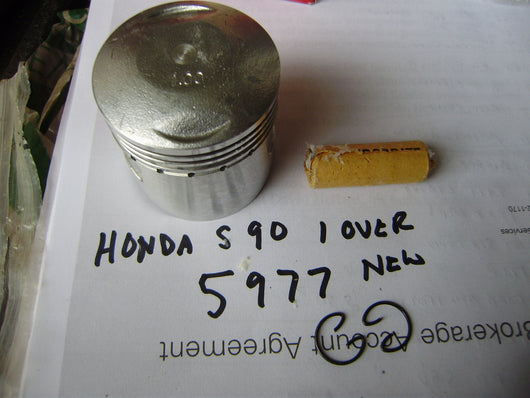 Honda Super 90 S90 Honda Piston Rings Roll Pin and circlips  sku 5977