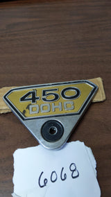 Honda CB450 CL450 K6 K7 Badge sku 6068