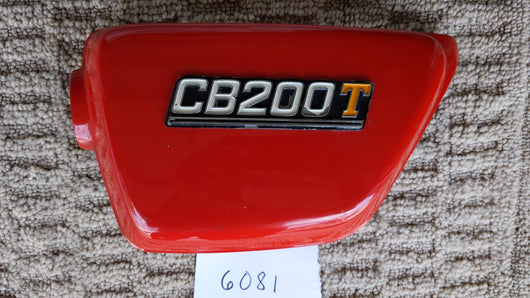 Honda CB200T sidecover red left sku 6081