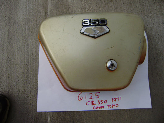 Honda CL350 CB350 right sidecover with badge sku 6125