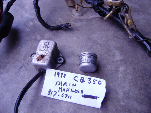 Honda CB350 Regulator and Flasher Unit main wiring harness sku 6137