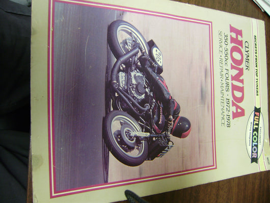 Honda CB350-CB400 CB550 Four Clymer Service Manual sku 6148
