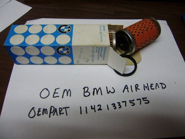 BMW OEM Oil Filter part 11421337575, Fits All airheads without an oil cooler my sku 6190