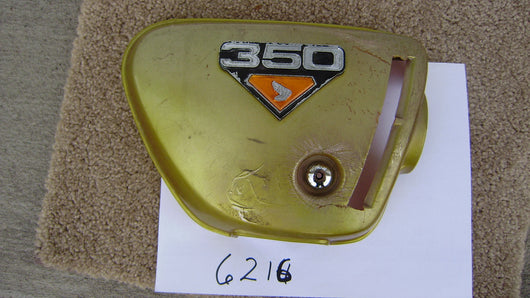 Honda CL350 right sidecover Candy Panther Gold sku 3216