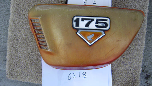 Honda CB175 K7 left sidecover Candy Orange sku 6218