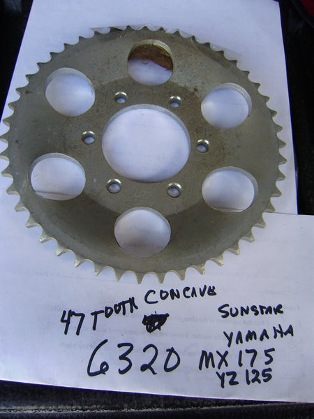Yamaha YZ125 MX175 NOS Rear Sprocket sku 6320