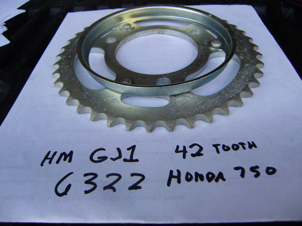 Honda NOS OEM Rear Sprocket  HM 750 42Tooth sku 6322