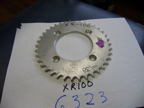 Honda NOS XL100 Rear Sprocket 38 tooth sku 6323