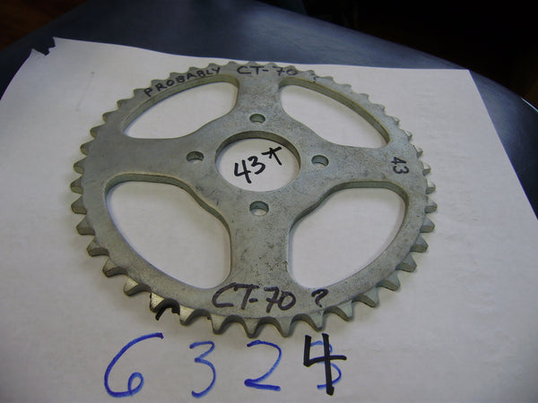 Honda NOS 43 tooth 428  rear sprocket  sku 6324