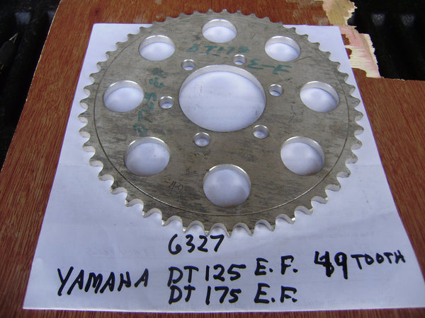 Yamaha DT125E DT125F 49 tooth  Rear Sprocket sku 6327