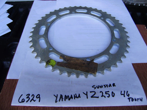 Yamaha YZ250 YZ360  Sunstar 46 Tooth Rear Sprocket sku 6329