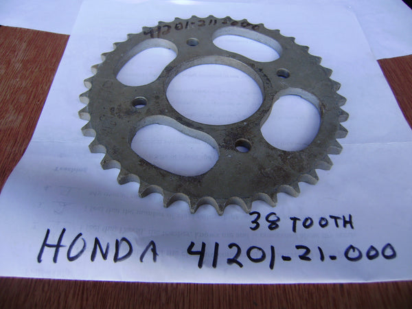 Honda NOS 428 38 tooth rear Sprocket 41201-211-000sku 6332