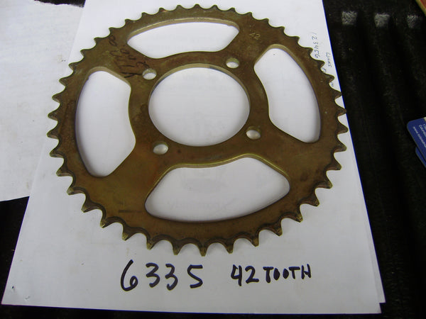 Yamaha YTM 200 NOS Rear Sprocket 42 tooth sku 6335