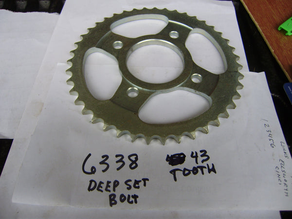 Honda NOS 43 tooth Rear Sprocket XL125 41101-382-610 sku 6338