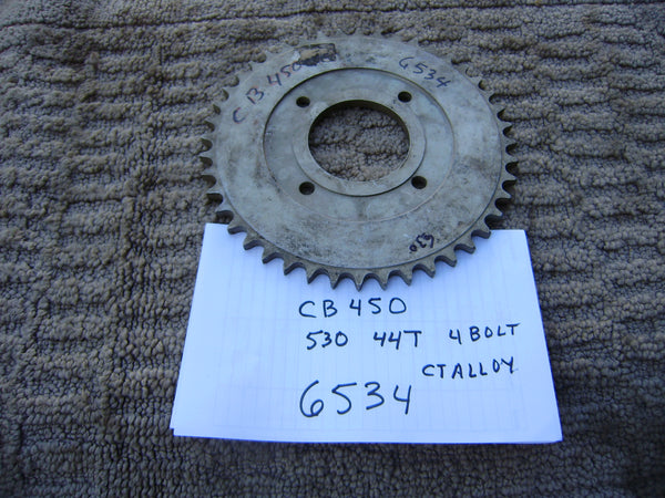 Honda CB450 Rear Sprocket  530 chain 44T 4 Bolt sku 6534