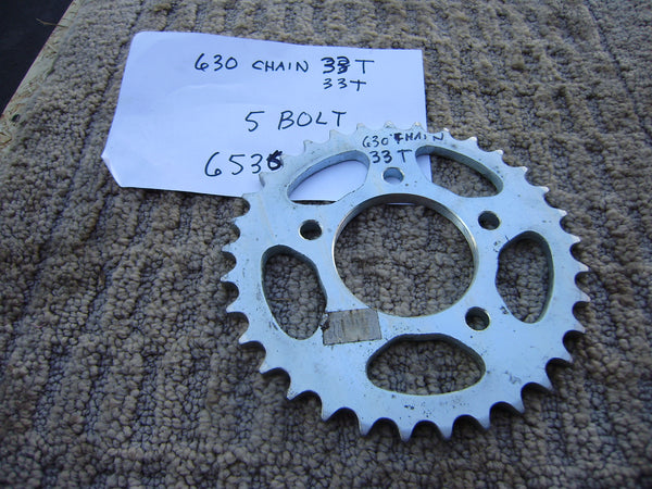 Honda Rear Sprocket 630 chain 38T 5 bolt pattern sku 6536