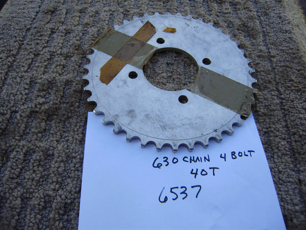 Honda rear sprocket  630 chain 40T 4 bolt Pattern sku 6537
