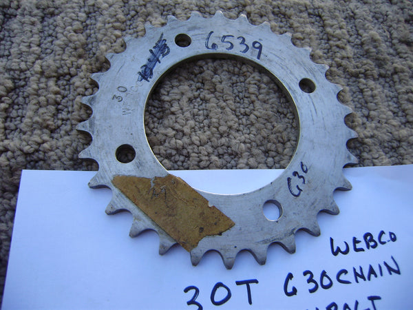 Honda Rear Sprocket 520 chain 30T 4 bolt Webco brand sku 6539