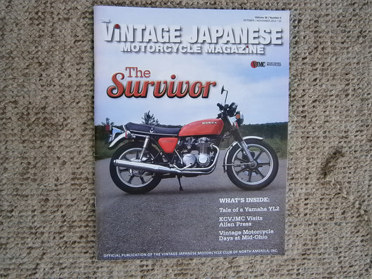 Honda 550 Four VJMC Magazine Cover Oct 2015    5010
