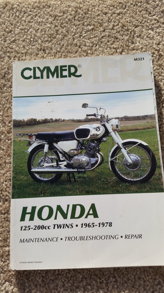 Honda 125-200 cc twins 1965-1978  Service Manual 5515