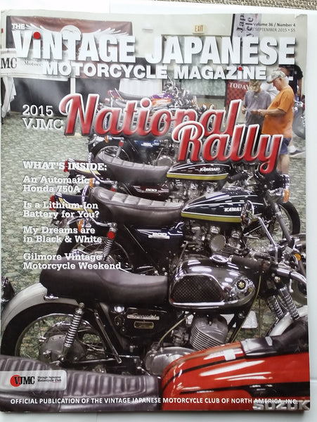 Kawasaki Z1 and Suzuki X6 Hustler VJMC Magazine September 2015    5013