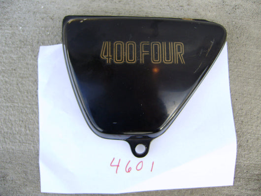 Honda CB400 Four CB400F black left sidecover 83700-377-000ZP  sku 4601