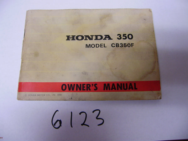 Honda CB350F Manual sku 6123