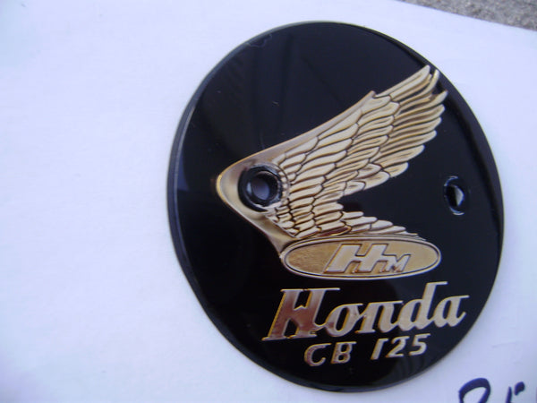 HONDA CB125 CB92 Benly 125 Tank Badge left NOS Genuine Honda  Left side