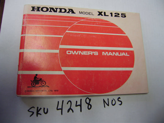 Honda XL125  owners manual NOS sku 4248