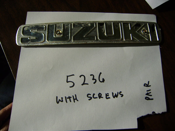 Suzuki TS250 TS185 TS125 TC125 gas tank badge 5236