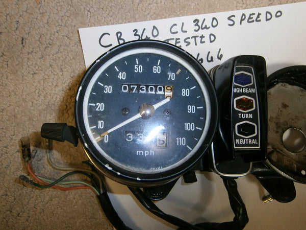 Honda CB360 Honda CL360 Speedometer Bracket and factory wiring 4666