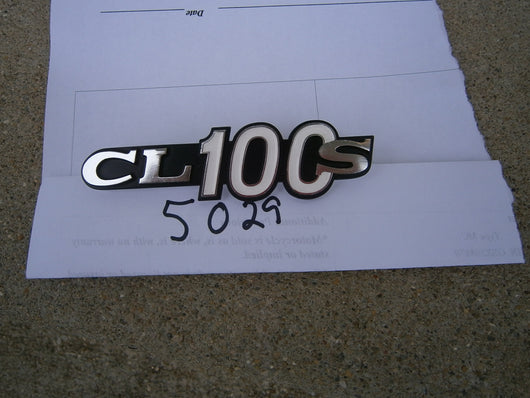 Honda CL100S 1971 New Old Stock Sidecover Badge Pair 5029