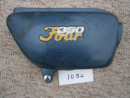 Honda CB350F Four Green Right Sidecover with badge 1052