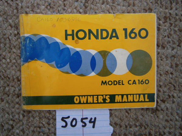 Honda CA160 Dream Owners manual 1966 5054