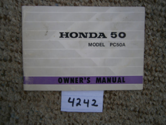 Honda PC50A NOS New Manual 4242