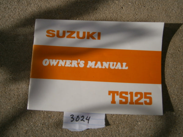 Suzuki TS125 1980 owners manual 3024