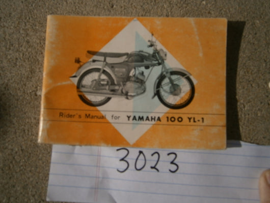 Yamaha YL-1 100cc Twin Jet 100 Manual 3023